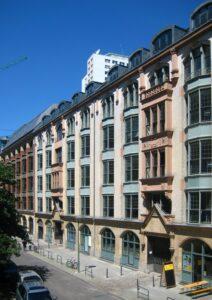 🇩🇪 Berlin, Rosenstrasse, terrace business houses, Spiralix radiators